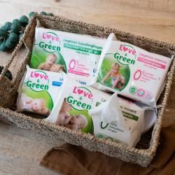 Lingettes bébé écologiques - Love & Green