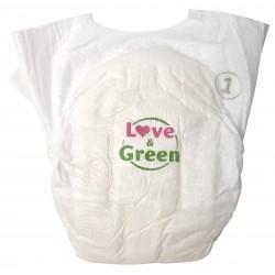Couches bébé écologiques - Taille naissance  - Love & Green