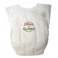 Couches écologiques pour bébé - Taille 2 - Love & Green