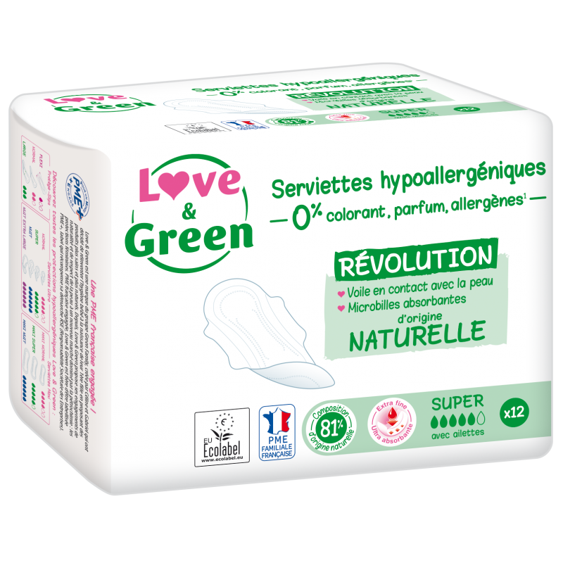 Serviettes Ultra Super écologiques - Love & Green