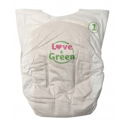 Couches écologiques Pure Nature - Taille naissance - Love & Green