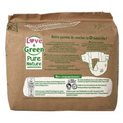 Couches écologiques non blanchies - Love & Green Pure Nature - T1