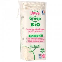 Coton bio Love & Green - hypoallergéniques - Certifiés GOTS