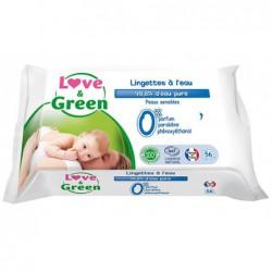 Lingettes à l'eau Love & Green