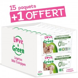 Lot lingettes bébé | Lingettes écologiques Love & Green