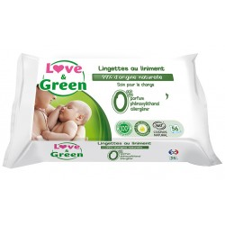 Lingettes au liniment | Lingettes bébé | Love & Green
