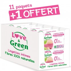 Lingettes intimes   Lingettes écologiques Love & Green